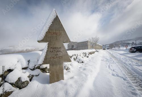 Invierno en la Sierra de Los Ancares, Lugo, después de una gran nevada