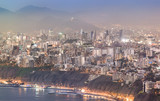 Panoramic view of Lima, Peru at blue time. - 193178261