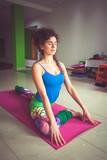 young woman practice yoga indoor shot - 193183202