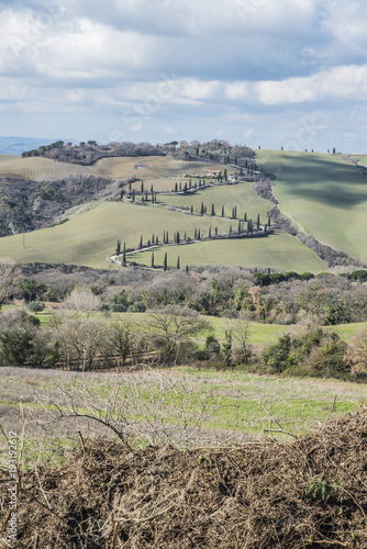 Deurstickers Toscane Val d'Orcia, Tuscany