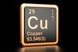 Copper Cu chemical element. 3D rendering - 193195647