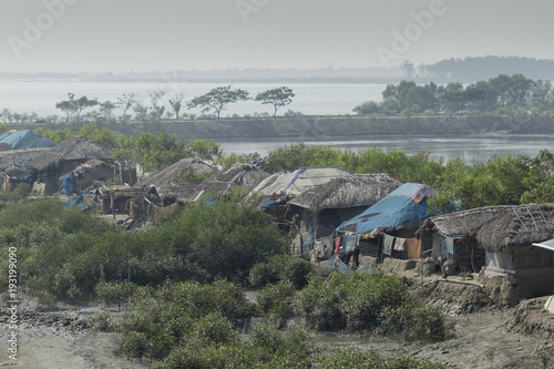 Fotobehang Khaki Village in Sundarbans in Bangladesh