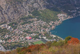 View of the Bay of Kator from the mountain. Montenegro. - 193209876