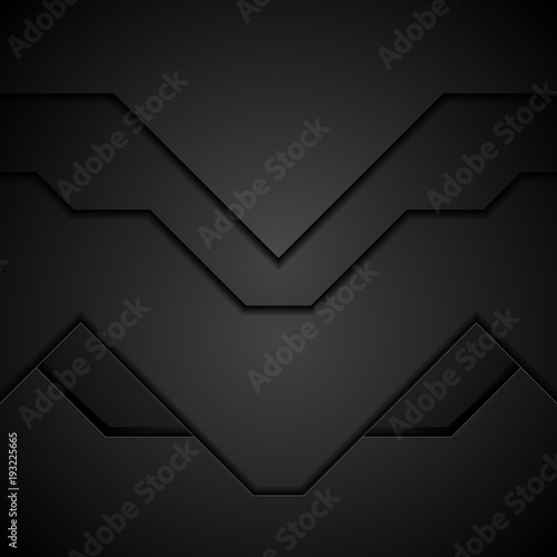 Black technology concept abstract background