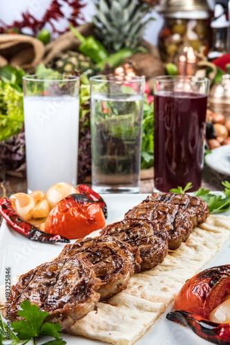 Lamb Chops On Grill, Lamb beyti , Lamb Delight, ready to serve. - 193225846