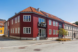Colorful buildings on streets of Trondheim, Norway. Scandinavian style of architecture. - 193230879
