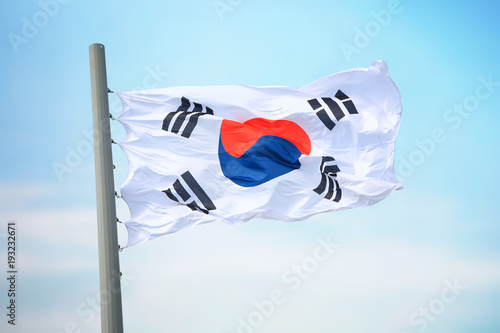 Foto op Canvas Seoel Flag of South Korea