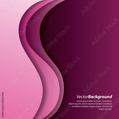 abstract wave pink curve purple background vector illustration