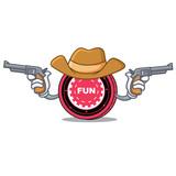 Cowboy FunFair coin character cartoon - 193239279