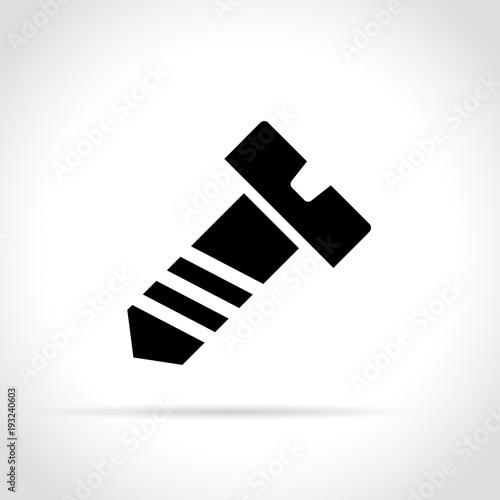bolt icon on white background