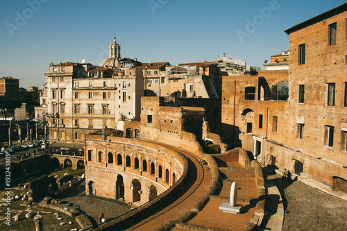 People are Visiting The Imperial Fora. The Imperial Fora are a series of monumental fora, constructed in Rome.
