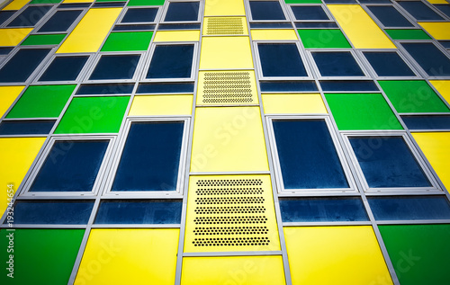 Colorful modern facade