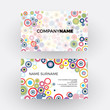 Vector abstract minimal geometric round circle. Business card - 193248094