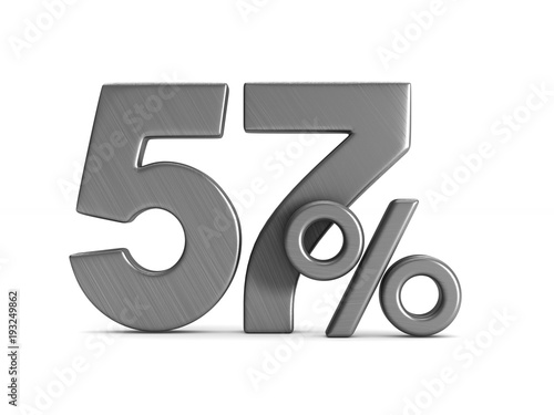 Poster fifty seven percent on white background. Isolated 3D illustration