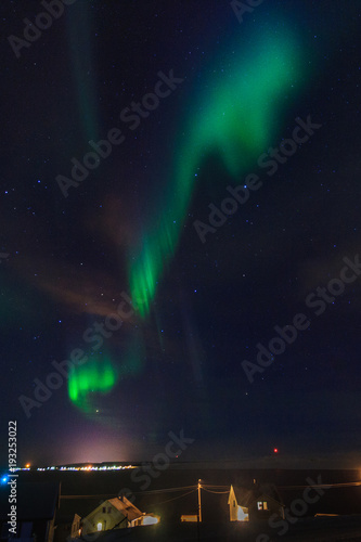 Plexiglas Noorderlicht Incredible aurora borealis activity above ekkeroy island