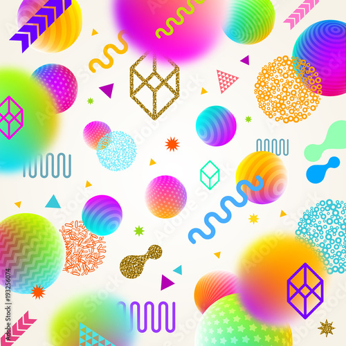 Vector abstract bright background with multicolored geometric shapes