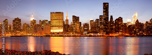 Skyline of buildings at Midtown Manhattan, New York City, NY, USA - 193261071