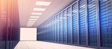 Empty hallway of tower servers - 193263284