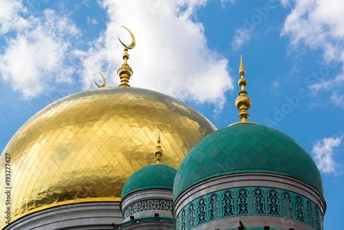 Kopuły Katedralny meczet w Moskwa Rosja