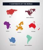 7 continents en vecteur