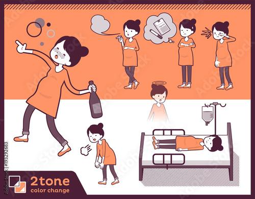 2tone type Pregnant women_set 10