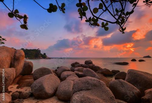 Foto op Aluminium Zee zonsondergang Sunset Moment Wonderfull Batam island