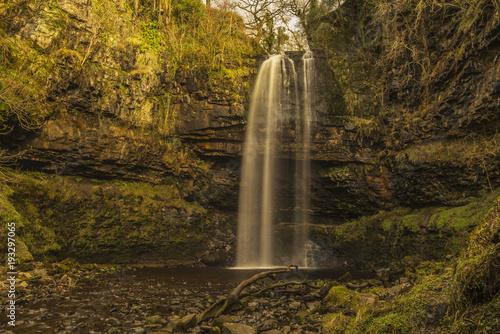Scwd Henrhyd Henehyd Falls  Wales UK - 193297065