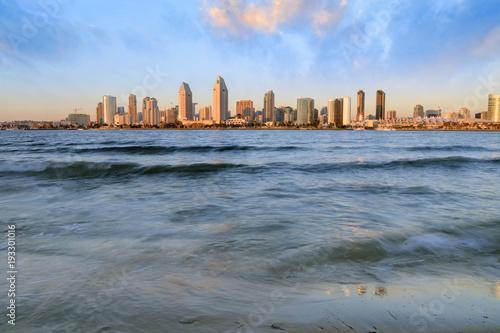 The San Diego, California skyline from Coronado Island.