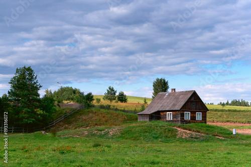 Aluminium Zomer countryside, rural home, rural landscape