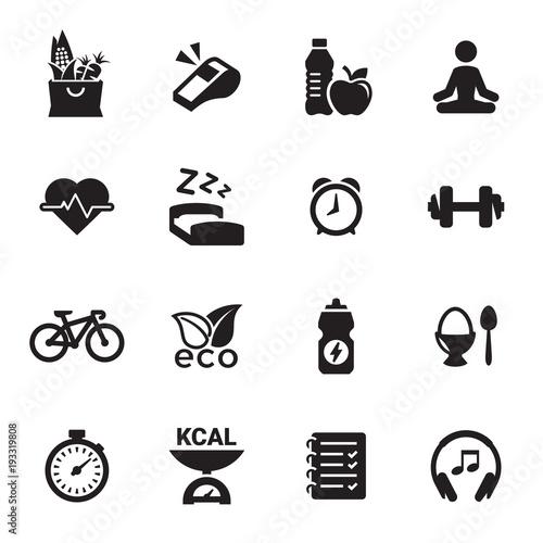 Naklejka Ikony zdrowie i fitness