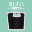 scale balance wellness lifestyle vector illustration design