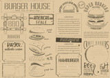 Burger Placemat on Craft Paper - 193323659