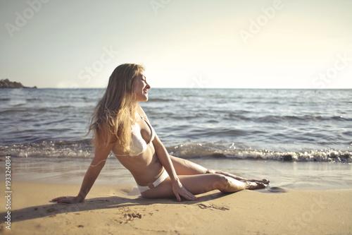 Sunbathing at the seaside