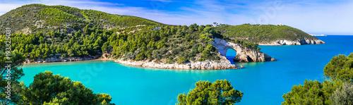 Fotobehang Freesurf Italian holidays in Puglia - Natural park Gargano with beautiful turquoise sea
