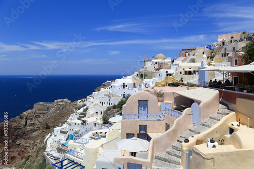 Aluminium Santorini Landscape of the island of Santorini