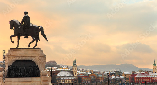 Foto op Canvas Boedapest Budapest skyline from Parliament square, Hungary, Europe