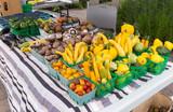 Organic produce at outdoor Farmers Market - 193332602