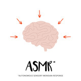 Concept of ASMR effect on human's mind, brain tingling sensations. - 193334271