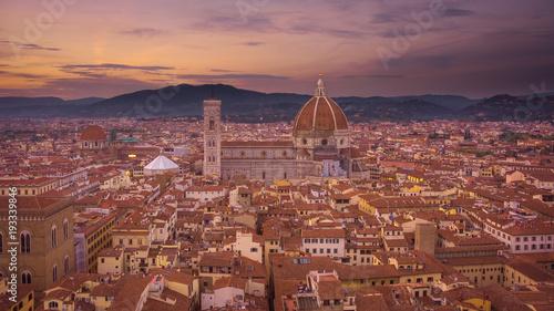 Fotobehang Toscane Il Duomo dalla Torre di Arnolfo