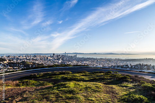 San Francisco Downtown widok z Twin Peaks.
