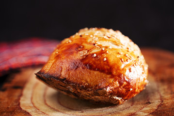 Samosa, samsa traditional asian pies baked in tandoor