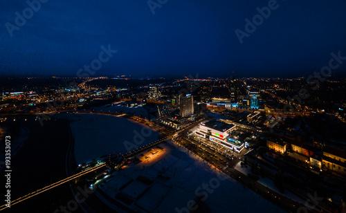 Vilnius city at night