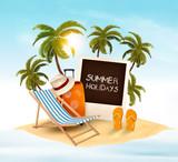 Summer holidays background. Vacation memories. Vector.