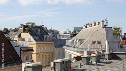 In de dag Wenen Vienna Roofs