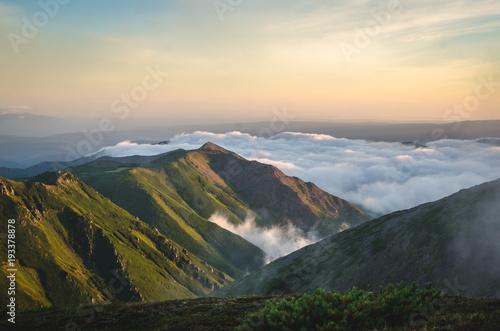 Foto op Plexiglas Beige Sakhalin mountains