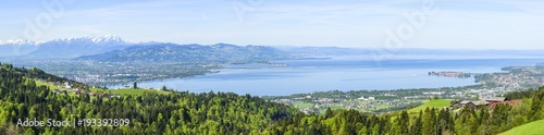 Deurstickers Panoramafoto s Blick auf die östliche Bodensee-Region