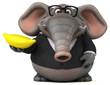 Quadro Fun elephant - 3D Illustration