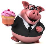 Fun pig - 3D Illustration - 193393270