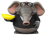 Fun elephant - 3D Illustration - 193393281