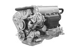 The image of an engine under the white background - 193396830